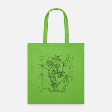 Places Of Interest Canberra City Street Map - black - Tote Bag