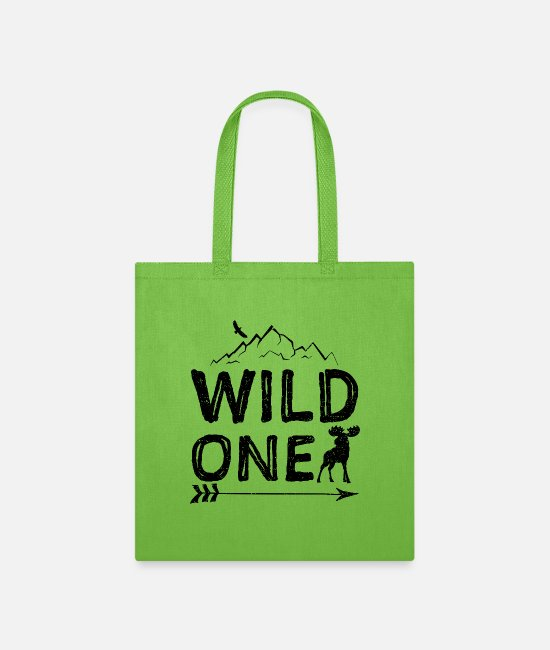 Mountain Lake Bags & Backpacks - Wild One - Camping - Tote Bag lime green