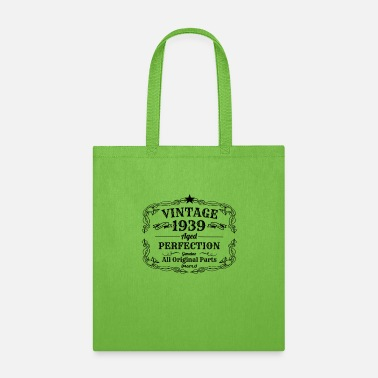 Birthday Vintage 1939 I 80th Birthday Gift Grandpa Grandma - Tote Bag