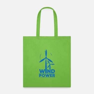 Forest Wind power environmental protection gift environme - Tote Bag