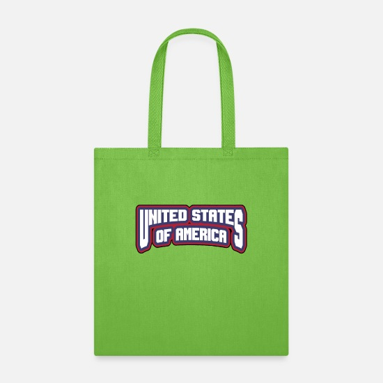 Americana Bags & Backpacks - United States of America black - Tote Bag lime green