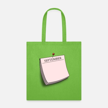 Daily Monthly note September - Tote Bag