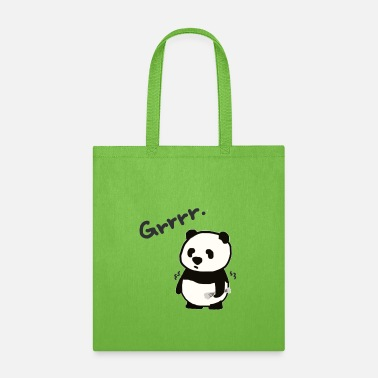 Growl Grrrr. Panda is growling.. - Tote Bag