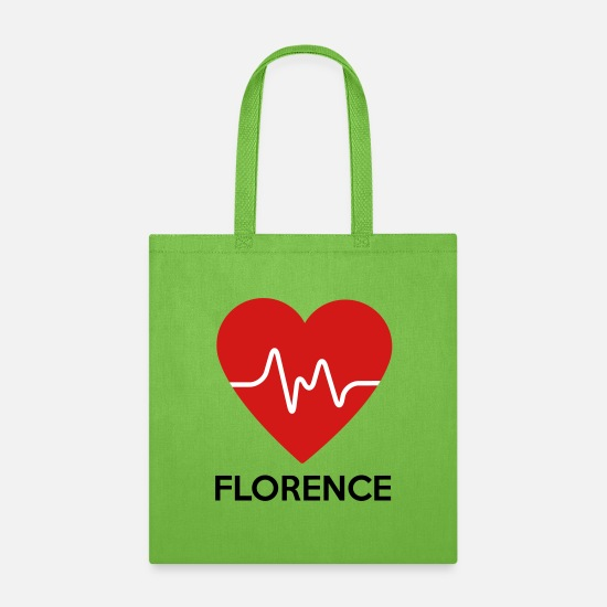 Florence Bags & Backpacks - Heart Florence - Tote Bag lime green