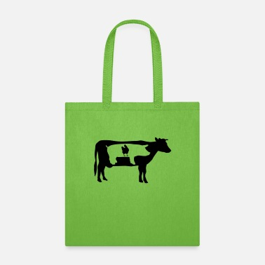 Farm Farm animals, cow, pig, chicken - Tote Bag