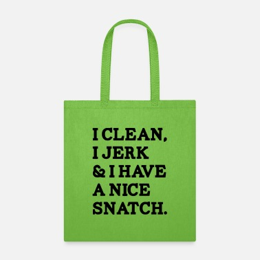 Waffles I CLEAN I JERK I HAVE A NICE SNATCH - Tote Bag