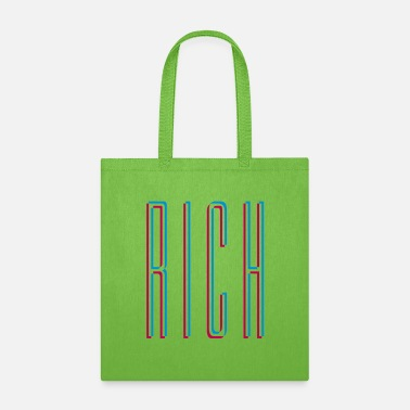 Wealth Text Rich 3D - Tote Bag