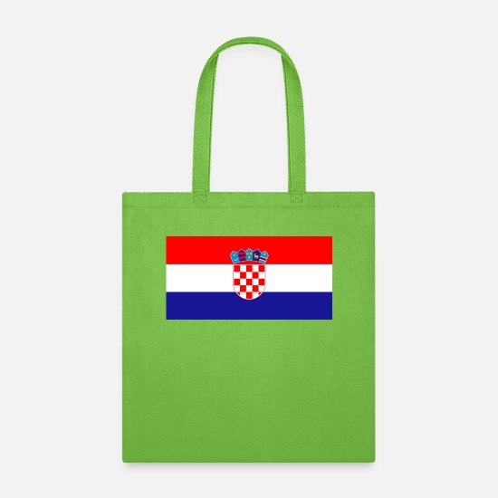 Croatia Bags & Backpacks - Flag of Croatia - Tote Bag lime green