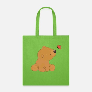 Butterflies And Bears Bear and butterfly - Tote Bag