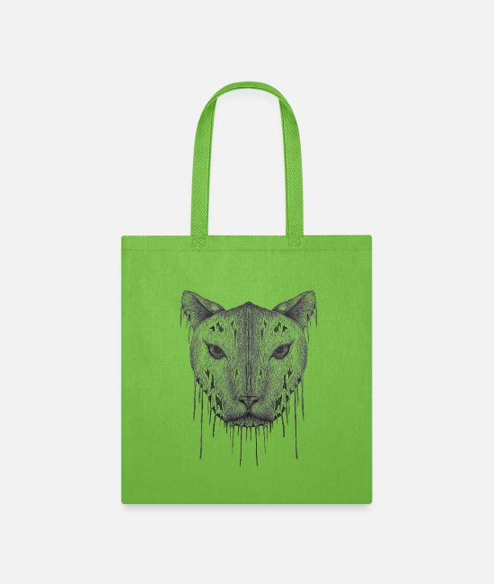 Wild Cat Bags & Backpacks - Lynx - Tote Bag lime green