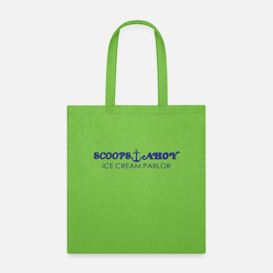 Ahoy Bags & Backpacks - scoops ahoy Shirt - Tote Bag lime green
