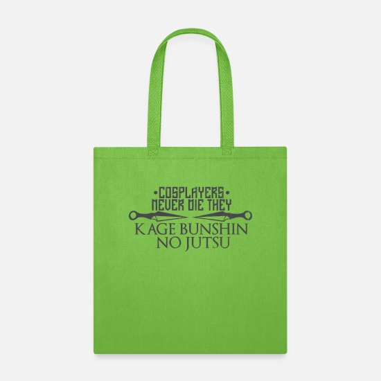 Cosplay Bags & Backpacks - Cosplayers Never Die - Tote Bag lime green