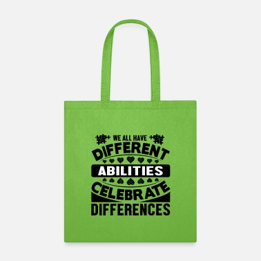 Accepted Autism We all Different - Tote Bag