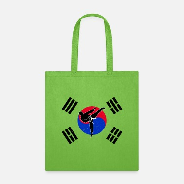 Taekwondo Taekwondo Tae Kwon Do with South Korea flag - Tote Bag