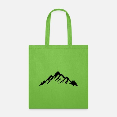 Canada Mountains, Mountains and forrest - Tote Bag