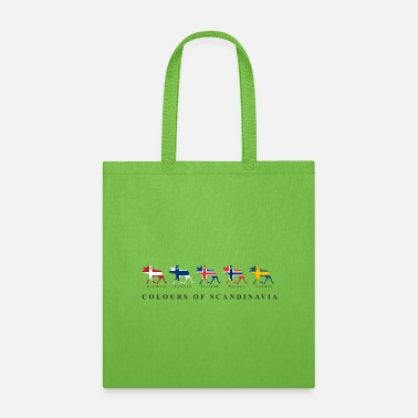 Scandinavia Colours of scandinavia Moose with flag - Tote Bag