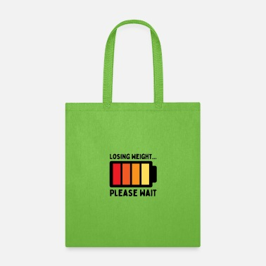 Losing Weight Please Wait, Funny Weight Loss vinta - Tote Bag