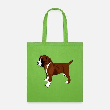 Patriotism Boxer Dog Puppy - Tote Bag