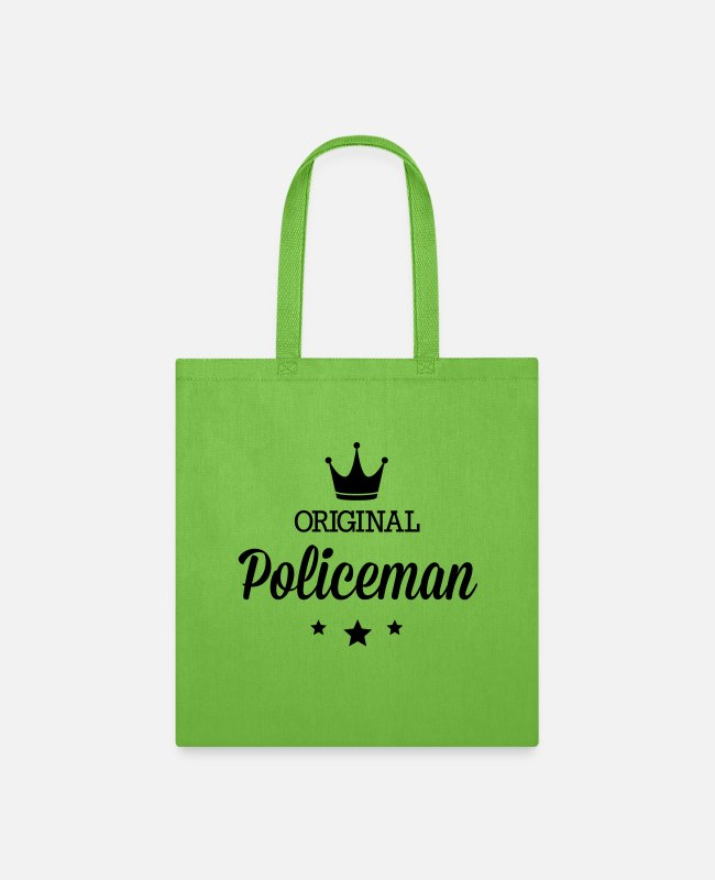 Escape Bags & Backpacks - Original policeman - Tote Bag lime green