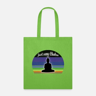 Meditation Chakra Chakra Tshirt in chakra colours with meditation - Tote Bag