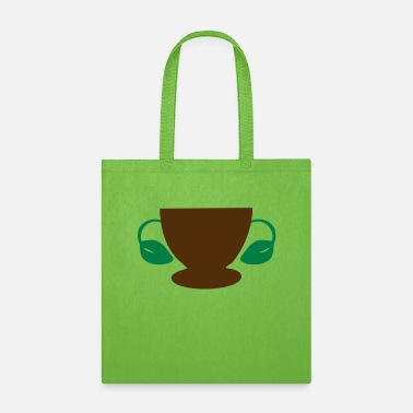 Improve ❤☕ټCoffee/Tea Cup with Leaf Handles☕❤ - Tote Bag