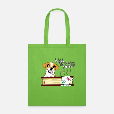 Dogs books and coffee - Tote Bag