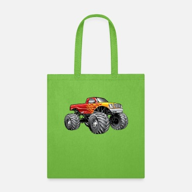 Off-road Blazing Hot Monster Truck - Tote Bag