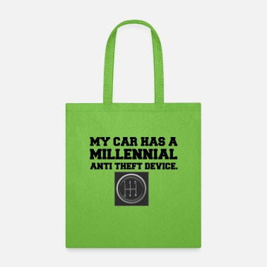 Anti MILLENNIAL ANTI THEFT CAR SHIFT - Tote Bag