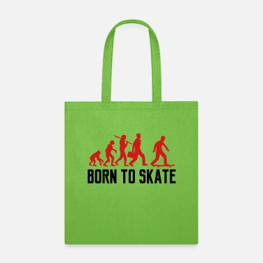 Text Message text born to skate evolution board skater skateboa - Tote Bag