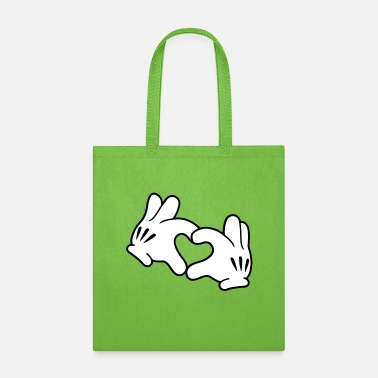 Mickey Heart Hands Mickey Heart - Tote Bag