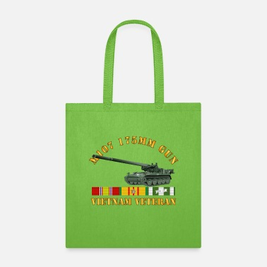 Army M107 175mm Gun Vietnam Vet w VN SVC - Tote Bag