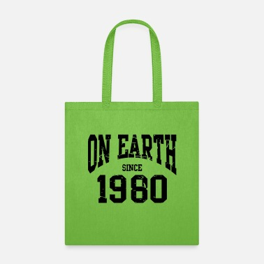 Established Birthday - On Earth Since 1980 - 40th - Tote bag