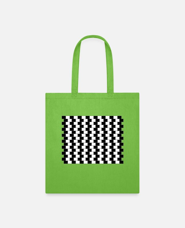 Pattern Bags & Backpacks - Visual illusion 2 - Tote Bag lime green