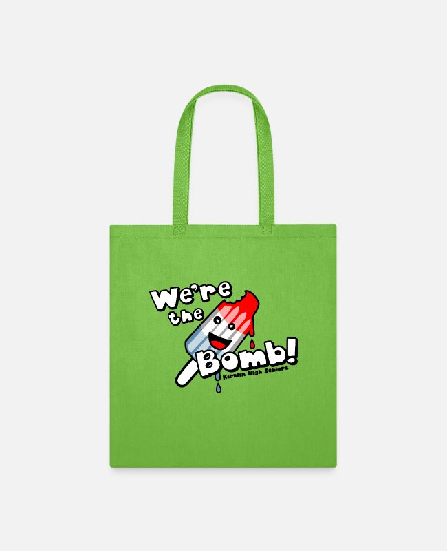 Teenager Bags & Backpacks - We re the Bomb Kirklin High Seniors - Tote Bag lime green