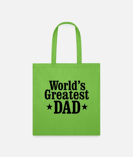 Dad Bags & Backpacks - World's greatest Dad - Tote Bag lime green
