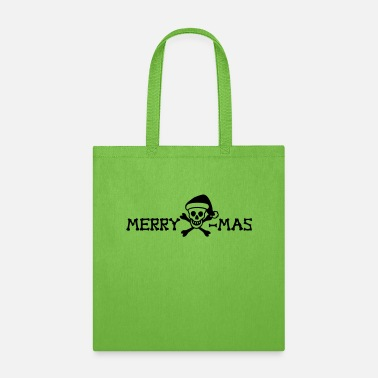 Satire merry xmas skull - Tote Bag