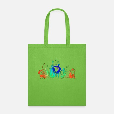 Muisc Colorful Jazz Band - Tote Bag