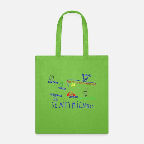 Concrete Bags & Backpacks - Sentimientos Feelings - Tote Bag lime green
