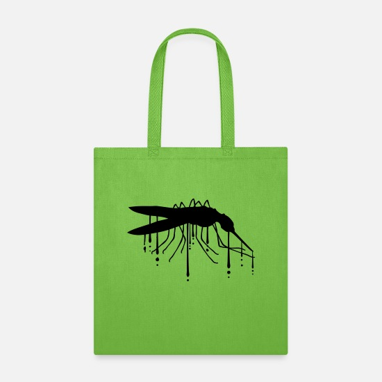 Graffiti Bags & Backpacks - drop graffiti bloodsucker silhouette mosquito smal - Tote Bag lime green