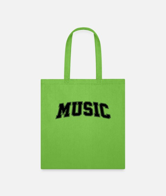 Song Bags & Backpacks - Music - Tote Bag lime green