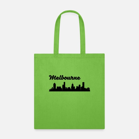 Melbourne Bags & Backpacks - Melbourne Skyline - Tote Bag lime green