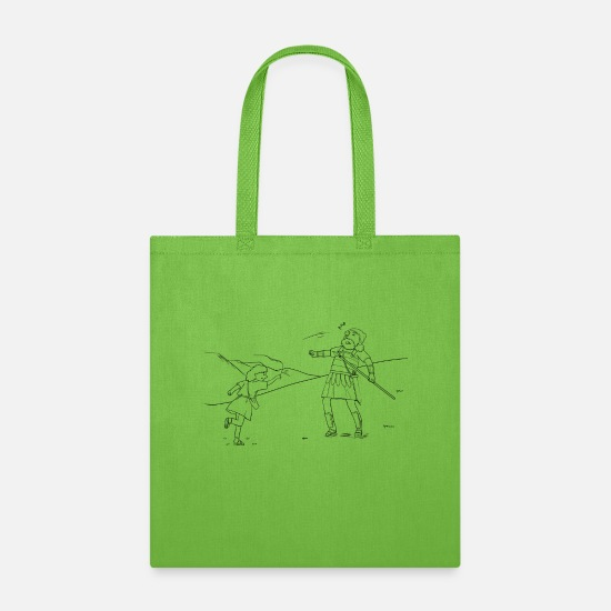 Rowing Bags & Backpacks - 1 Samuel 17:3951 03 - Tote Bag lime green