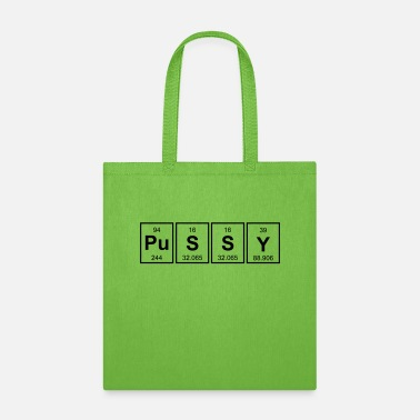 Periodic Table Periodic Table Of Pussy - Tote Bag