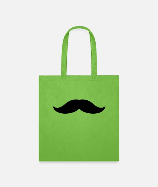 Hair Bags & Backpacks - Mustache 4 - Tote Bag lime green