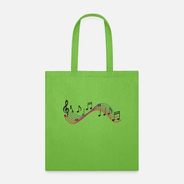 Electrical Musical Notes - Tote Bag