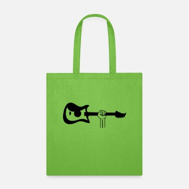 Electrical Line musician electric guitar playing bass band fun hob - Tote Bag