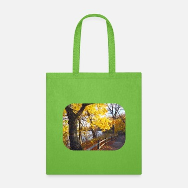 Crisp Autumn Path in the Park - Tote Bag