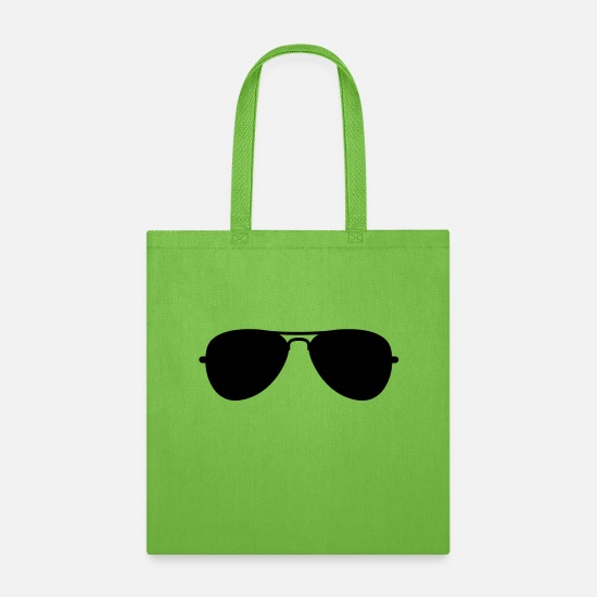 Aviation Bags & Backpacks - Aviator Glasses - Tote Bag lime green