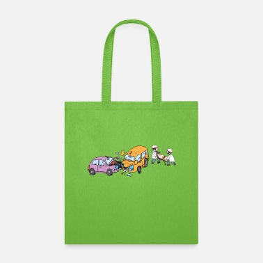 Jeep Motor Vehicle Accident - Tote Bag