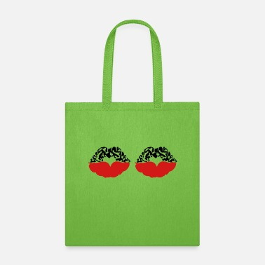 Deadly Sexy Vampire Luscious Red Lips Design For ♥ټXxSexy Tattooed Luscious Sensual Lips xXټ♥ - Tote Bag
